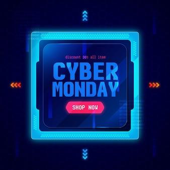 Cyber lundi de technologie réaliste