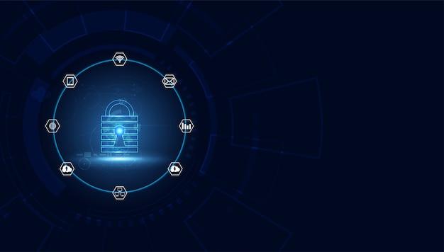 Cyber-menace sous forme d'icônes
