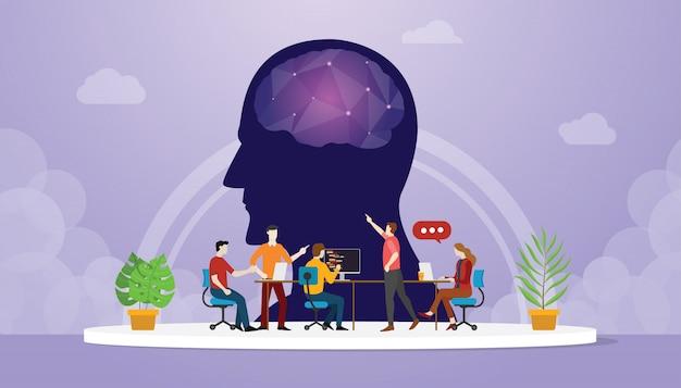 Cyber mind développement orienté avec le développeur de l'équipe