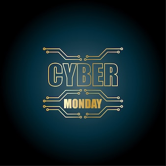 Cyber ​​monday abstrait