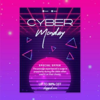 Cyber Monday Flyer A5 Vertical Vecteur Premium