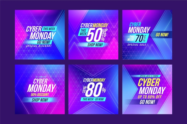Cyber monday instagram posts