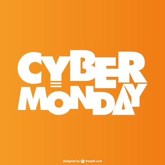 Cyber ​​monday lettrage