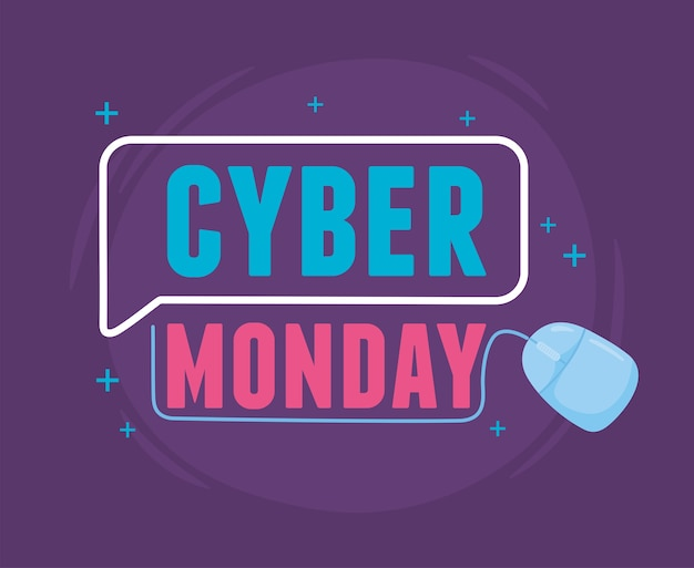 Cyber monday, promotion virtuelle de vente marketing