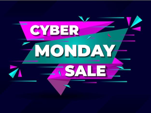 Cyber monday sale offre bannière publication sur les réseaux sociaux conception de l'offre cyber offre badge publication sur les réseaux sociaux
