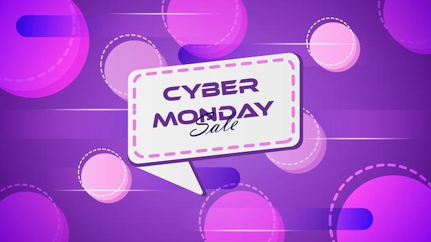 Cyber monday vente abstrait violet