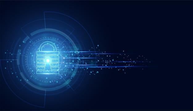Cyber sécurité abstraite avec vitesse de cadenas bleu