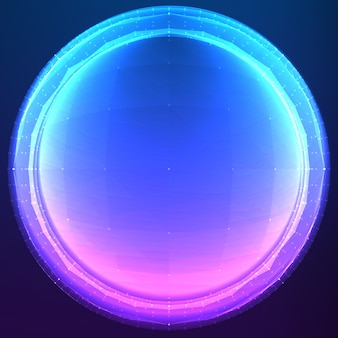 Cyber sphère polygonale abstraite