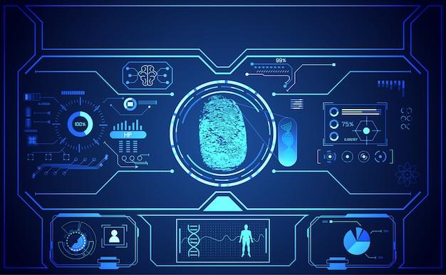 Cyber-technologie, interface, cyber-sécurité