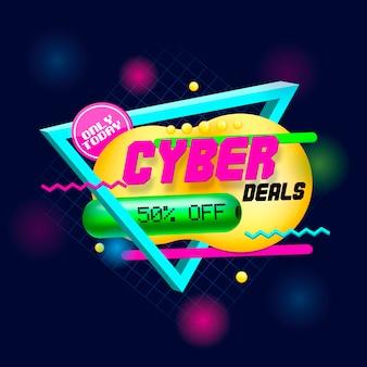 Cybercommerce rétro dans le style des années 80