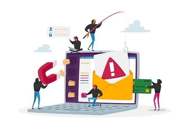 Cybercriminalité, concept de phishing de mot de passe. attaque de hackers, les pirates bulgares volent des données personnelles