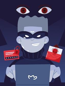 Cybercriminalité des pirates informatiques