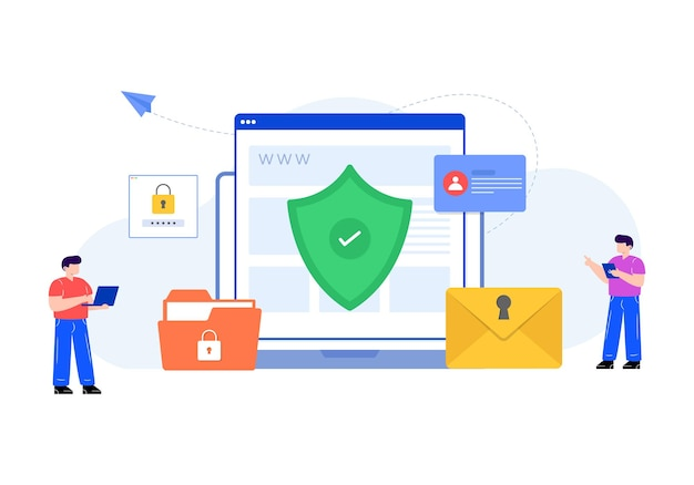 Cybersécurité dans la conception vectorielle modifiable à plat