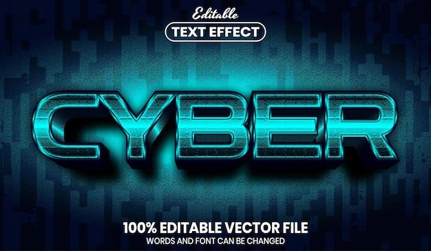Cybertexte, effet de texte modifiable de style de police