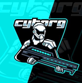 Cyborg armée mascotte esport