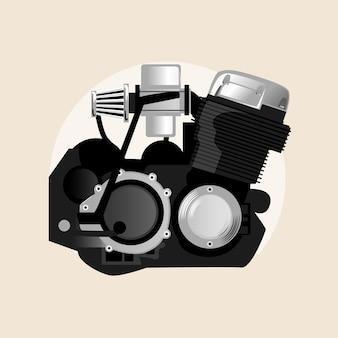 Cycle du moteur du moteur 4storke