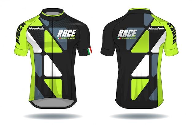 Cycle jersey.sport porter illustration de l'équipement de protection équipement.