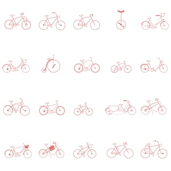 Cyclisme design vélo icon set