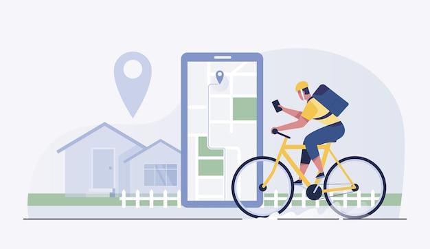 Les cyclistes livrent de la nourriture aux clients dans les villages et les villes.