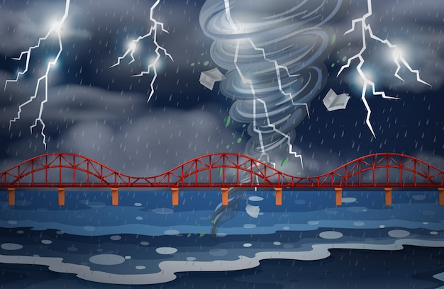Un cyclone et un orage