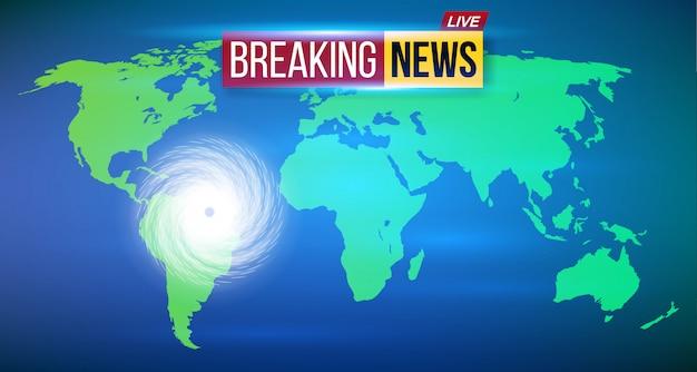 Cyclone ouragan vent, tempête en spirale du typhon.