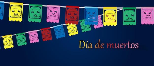Da de los muertos fête mexicaine jour des morts illustration vectorielle fête mexicaine