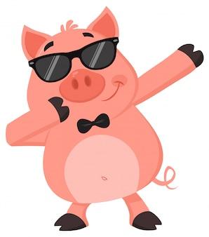 Dabbing de porc drôle