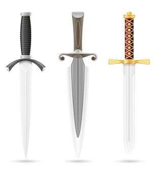 Dague de bataille médiévale