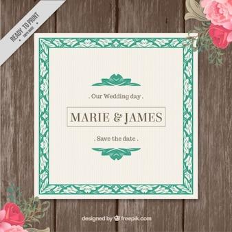 Dainty carte de mariage