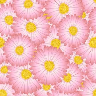 Daisy fleur sans soudure de fond