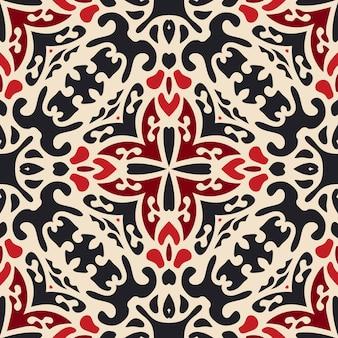 Damassé de luxe sans couture motif vecteur motif carrelé