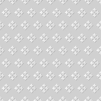 Damassé sans couture art papier 3d croix antique fleur