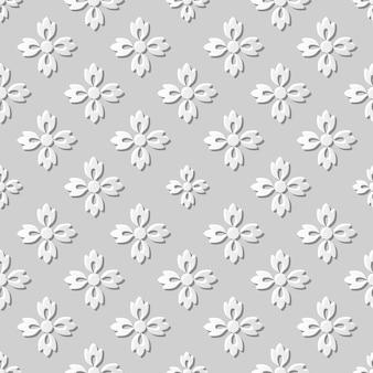 Damassé sans couture art papier 3d croix fleur