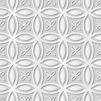 Damassé sans couture art papier 3d croix ronde