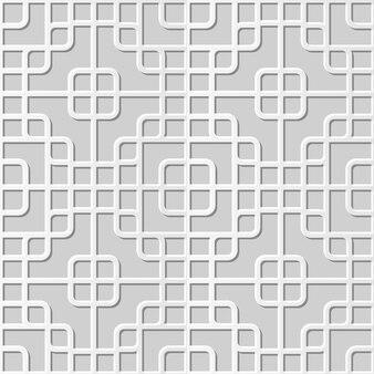 Damassé sans couture art papier 3d rond coin carré