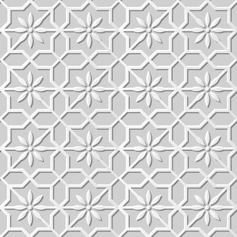 Damassé sans couture art papier 3d star cross flower