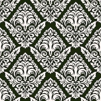 Damassé sans soudure de fond. ornement damassé à l'ancienne classique de luxe, texture transparente victorienne royale pour papiers peints, textile, emballage. modèle baroque floral exquis.