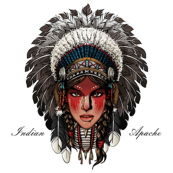 Dame indienne guerrier