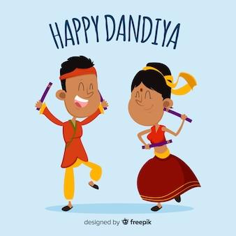Dandiya heureux