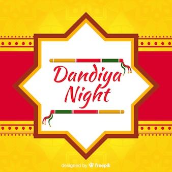 Dandiya nuit avec des bâtons