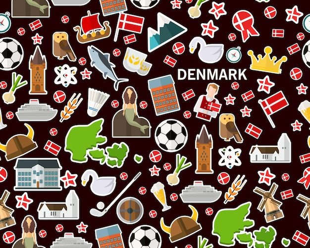 Danemark modèle de texture transparente plat