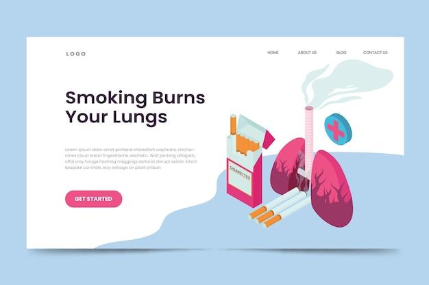 Danger de fumer - page de destination