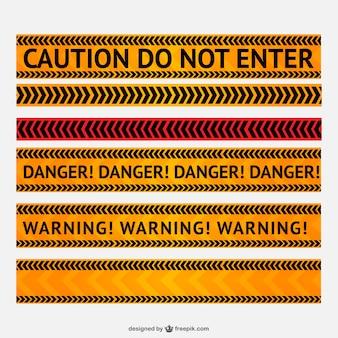 Danger et la ligne d'avertissement vecteur