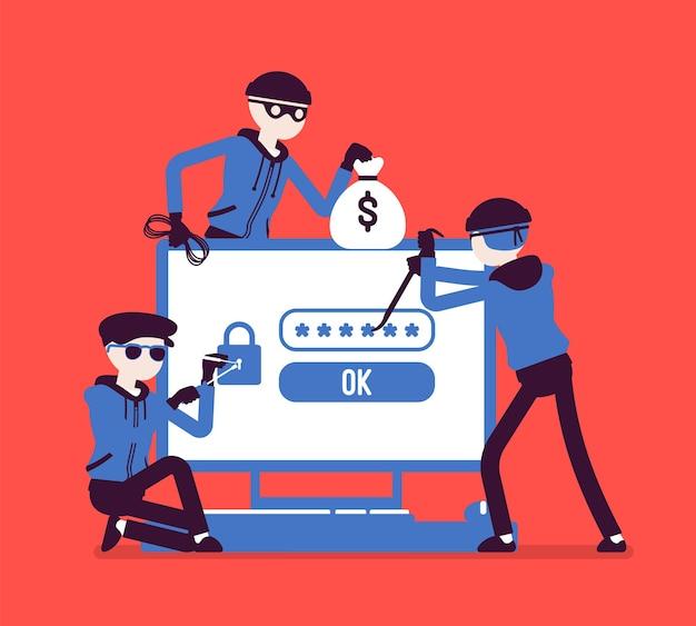 Danger de piratage de mot de passe