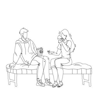 Dans le café, les clients se réunissent