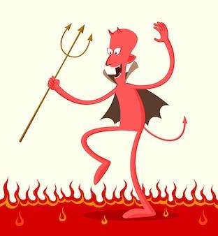 Danse Satan Vecteur Premium