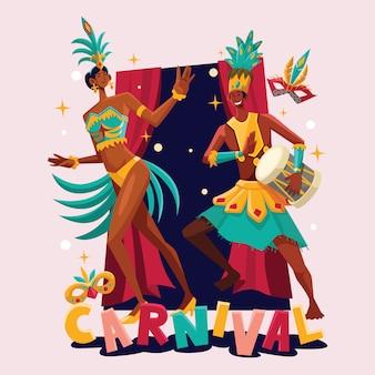 Danseur de carnaval brésilien
