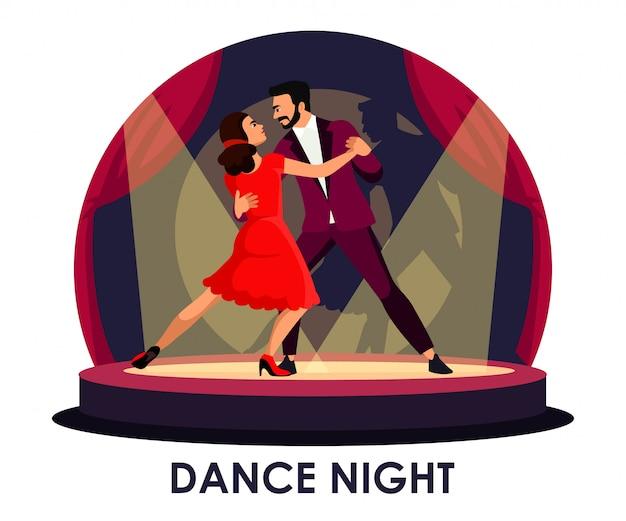Danseur sur scène sous les projecteurs