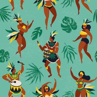 Danseurs de samba brésiliens
