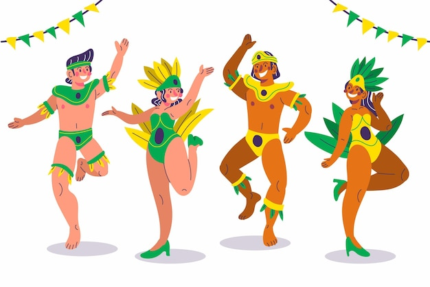 Danseuse de carnaval en costumes